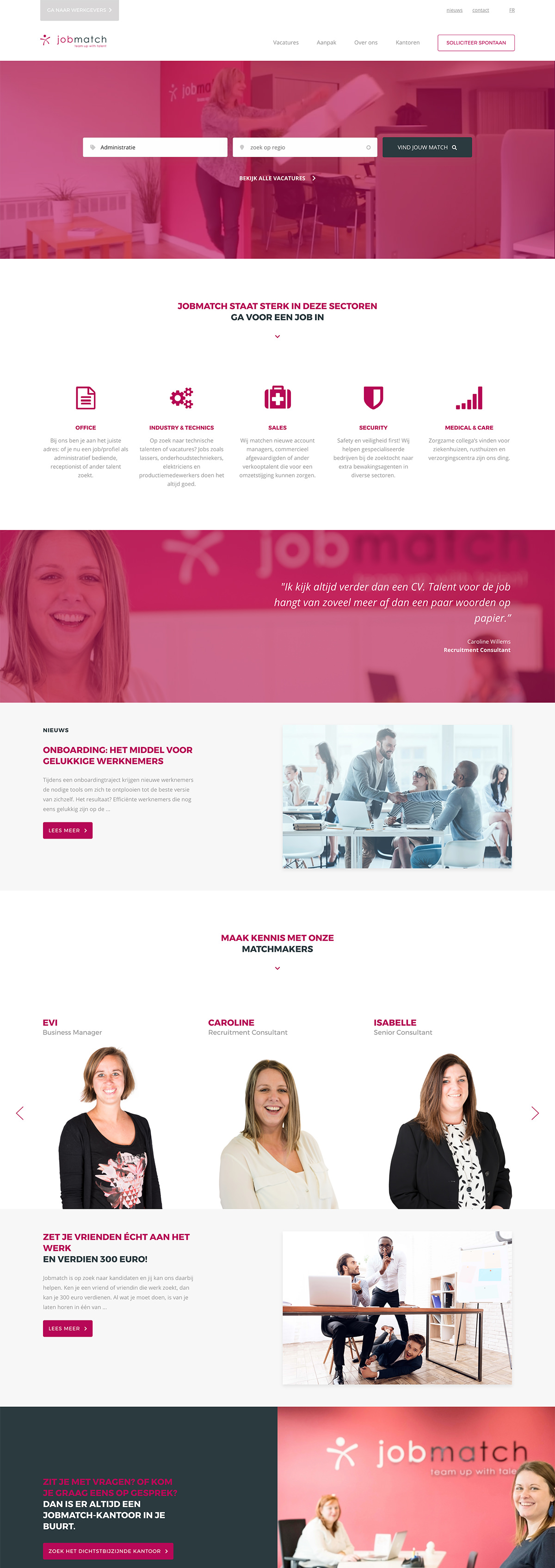 Jobmatch website